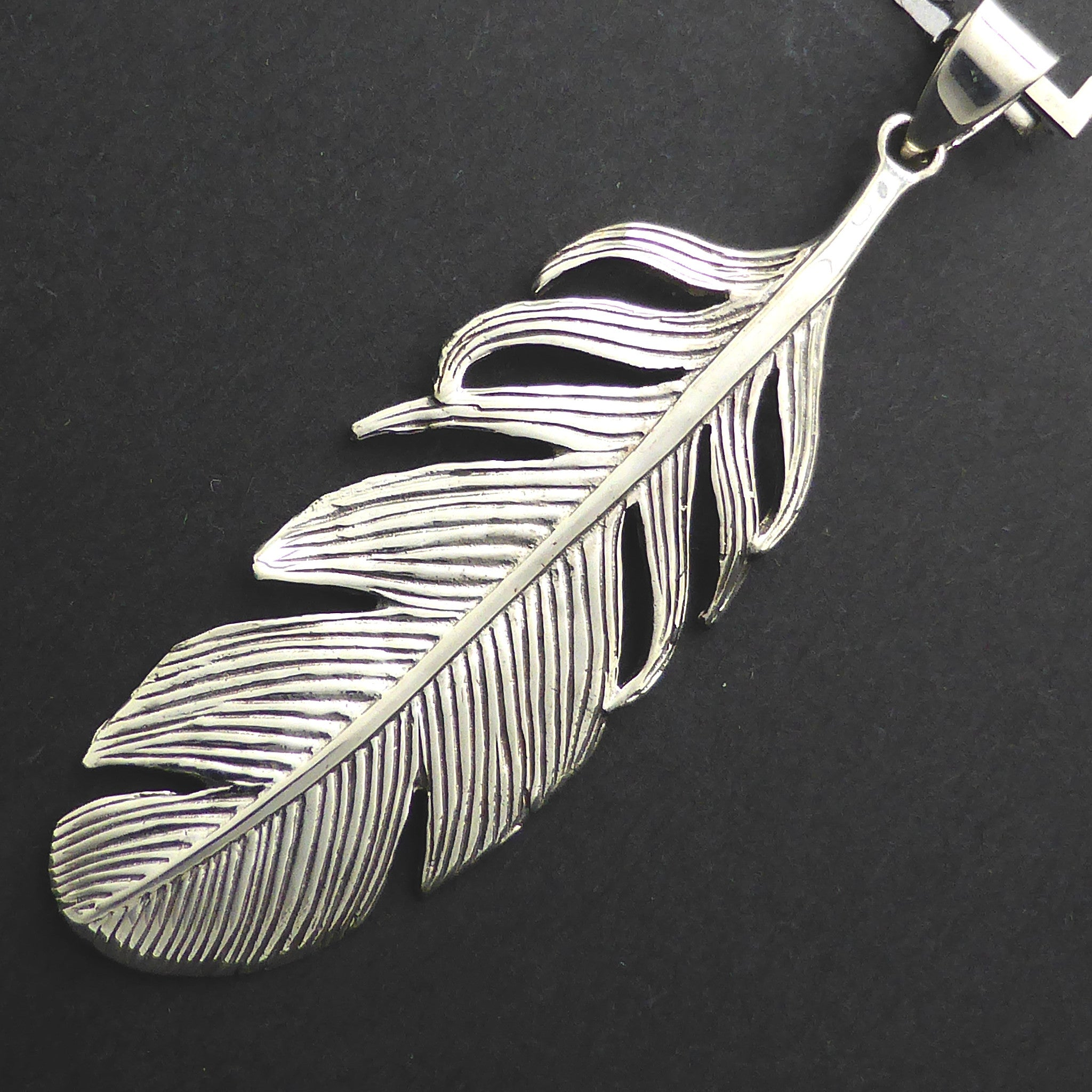 Feather Pendant 925 Sterling Silver | Beautiful detail | Crystal Heart Melbourne Australia since 1986