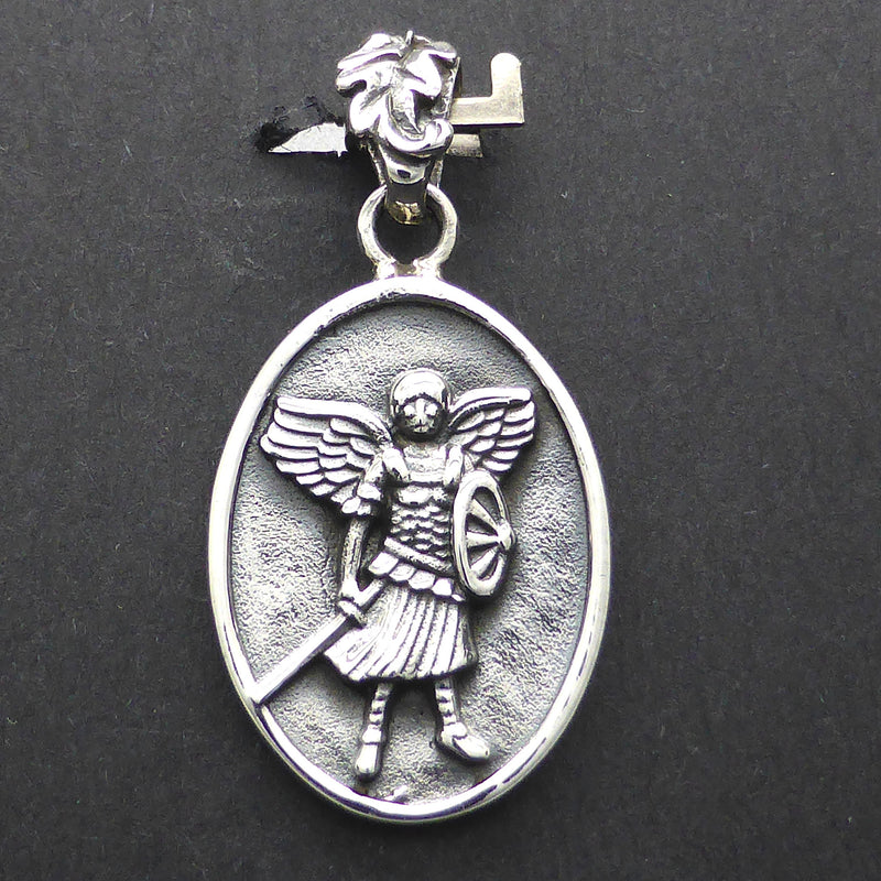 Archangel Michael Pendant | 925 Sterling Silver | Protection and Courage | Christian Symbol | Crystal Heart Melbourne Australia since 1986