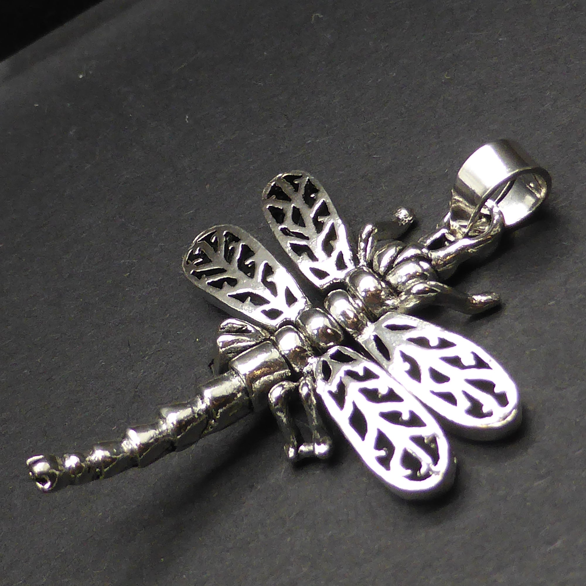 dragonfly gold pendant in silver necklace yellow sterling and gavriel phillip