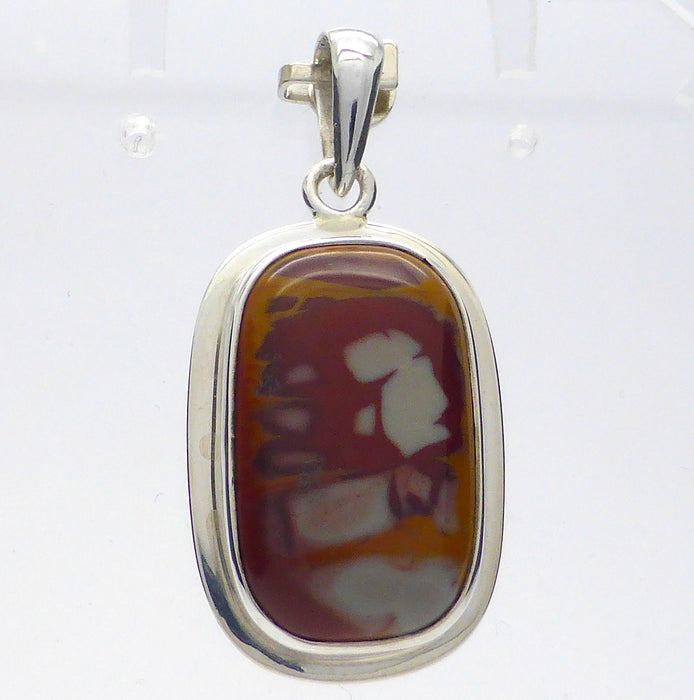 Noreena Jasper Pendant | 925 Sterling Silver | West Australia Stone | Mental clarity, Memory | Find yr Direction | Crystal Heart Melbourne Australia  since 1986