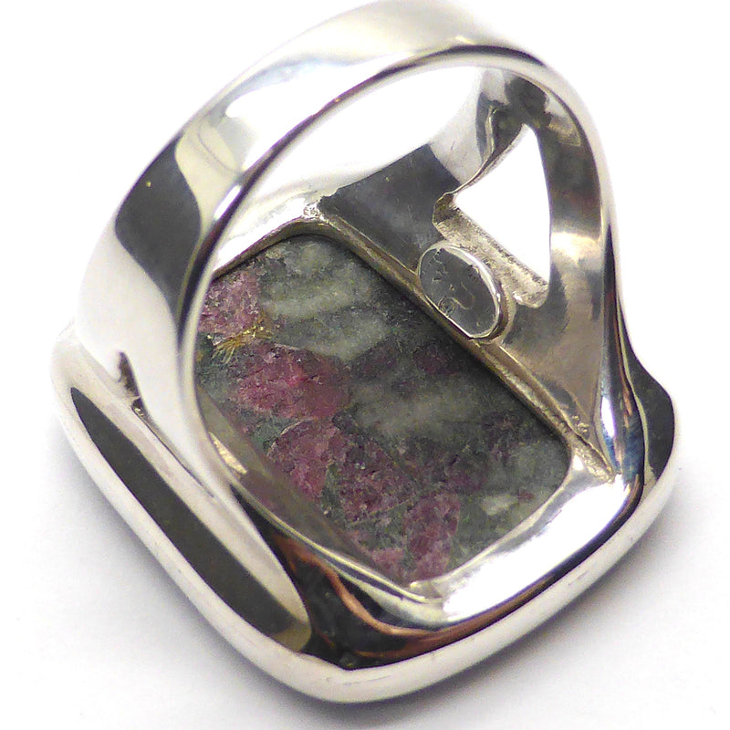 Eudialyte Crystal Ring I 925 Sterling Silver | US Size 7.5 | Courage Spiritual Warrior | Aries | Crystal Heart Melbourne Australia since 1986