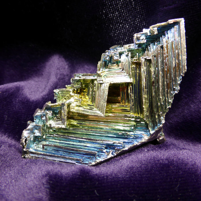 Laboratory grown Bismuth Cluster | Creativity meets Practicality  | Aids movement between | Aquarius Star Stone | Crystal Heart Melbourne Australia since 1986