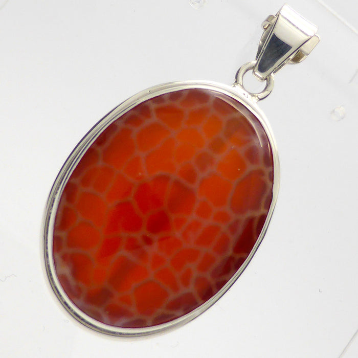 Pendant Fire Agate 925 Silver | Creativity | Reflect Negativity back  | Taurus Cancer Leo Gemini Star Stone | Crystal Heart Melbourne Australia since 1986