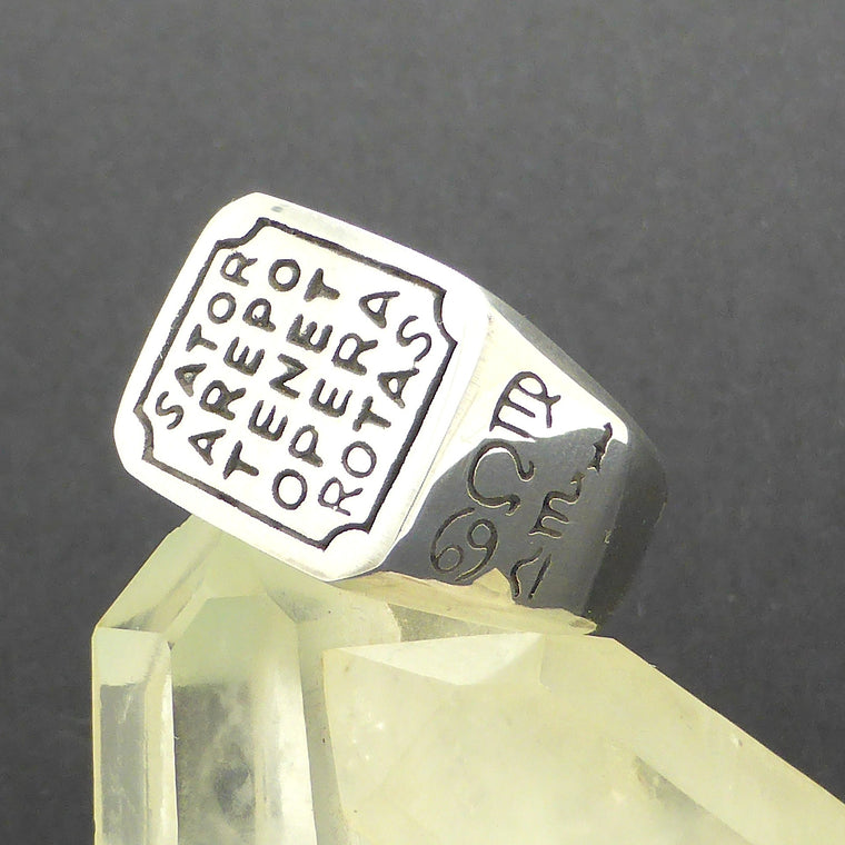 Ring Sator Arepo with Sun Dial