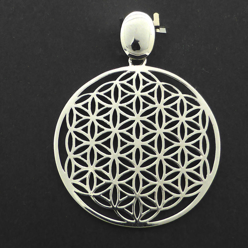 Flower of Life Pendant | 925 Sterling Silver | Unite Male & Female God and Goddess energies | Material and Spiritual Wealth | Crystal Heart Melbourne Australia since 1986