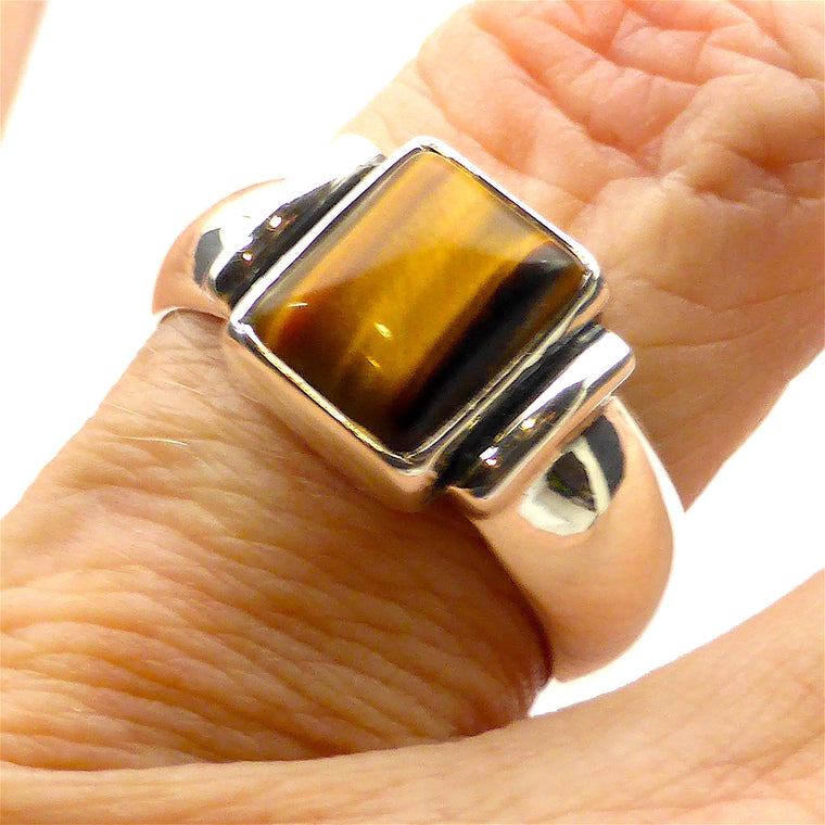 Ring Tiger Eye Oblong