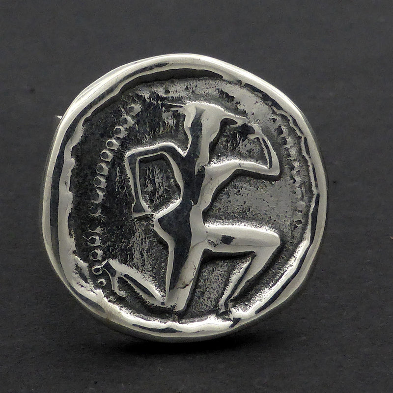 Ring Ancient Greek Stater Coin | solid 925 Sterling Silver copy | Minotaur | Masculine Power | Crystal Heart Melbourne Australia since 1986