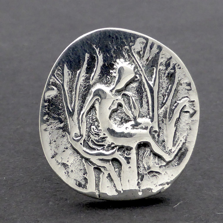Ancient Coin Ring Europa Zeus 925 Silver