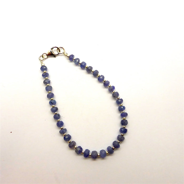 Tanzanite Bracelet Faceted Beads | 925 Sterling Silver Findings & Spacer Beads | Transforms stress into Joy with Beauty  | Mt Kilimanjaro | Crystal Heart Melbourne Australia since 1986