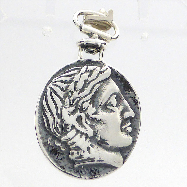 Ancient Coin Pendant Caesar 925 Silver