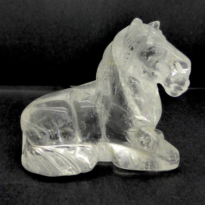 Spirit Horse Carving | Clear Quartz Rock Crystal | Crystal Heart Melbourne Australia since 1986