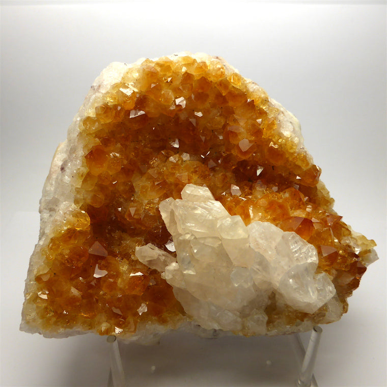 Citrine Cluster with Calcite CC1