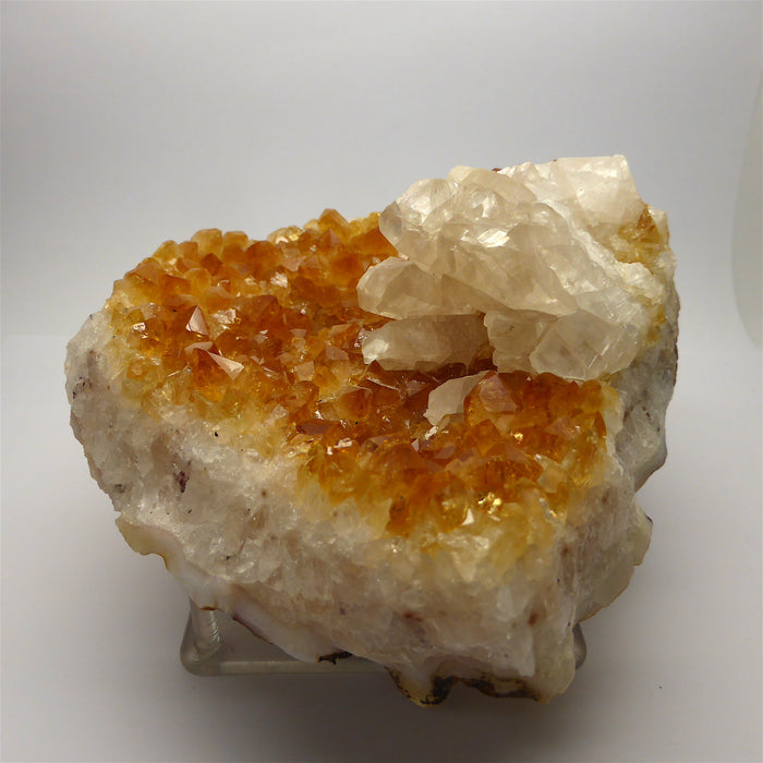 Citrine Cluster with Calcite Goup  | Nice large points | Prosperity | New Business Gift | Leo | No Negativity | Crystal Heart Melbourne Australia since 1986