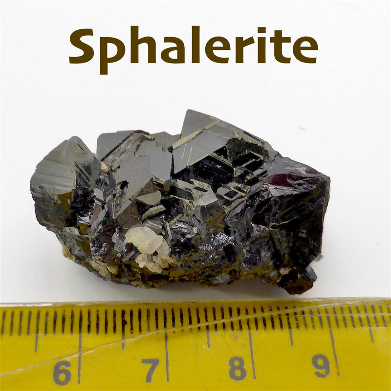 Sphalerite Crystal with Calcite