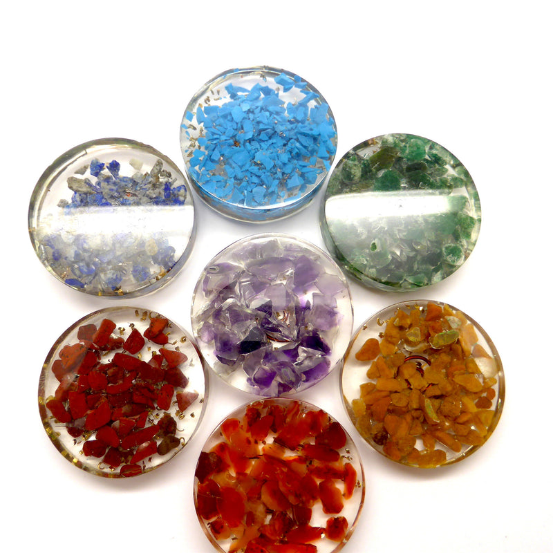 Orgone & Crystal Chakra Healing Set | Heal Unblock Balance | Combine Orgone and Crystal Energy | Crystal Heart Melbourne Australia since 1986