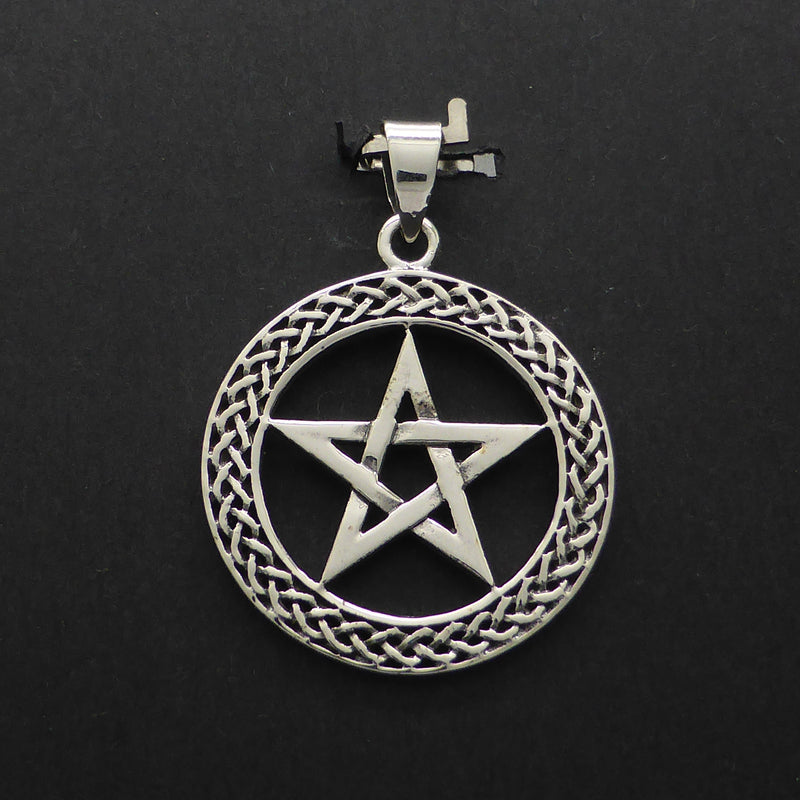 Pentacle Pendant Celtic Border | 925 Sterling Silver | Crystal Heart Melbourne Australia since 1986