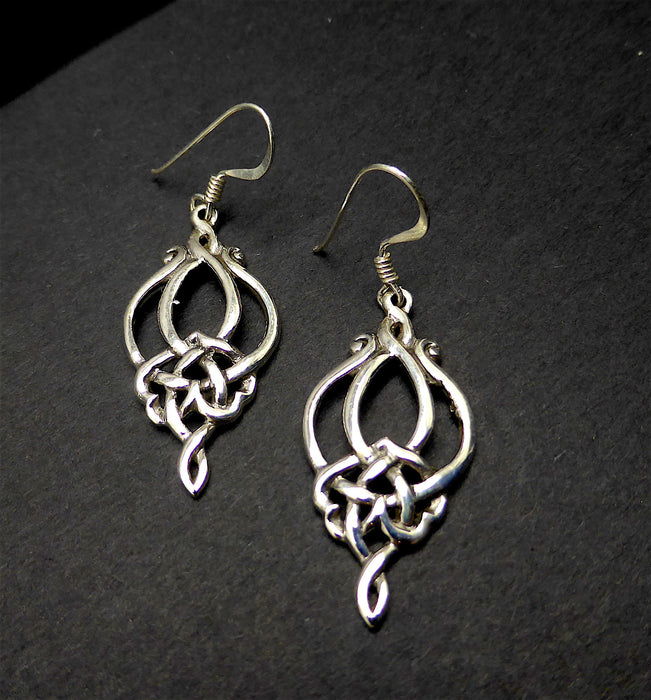 Celtic Earrings | 925 Sterling Silver | Simple Knot work |  Crystal Heart Melbourne Australia since 1986