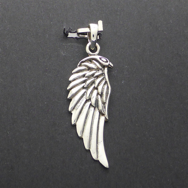 Wing & Eagle Pendant | 925 Sterling Silver | Clever design as Wing morphs into Eagle's Head  | Crystal Heart Melbourne Australia since 1986