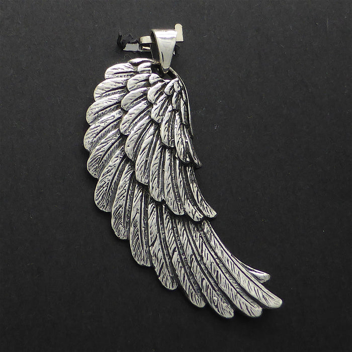 Pendant Angel Wings | 925 Sterling Silver | Beautiful angelic Proportions | Crystal Heart Melbourne Australia since 1986