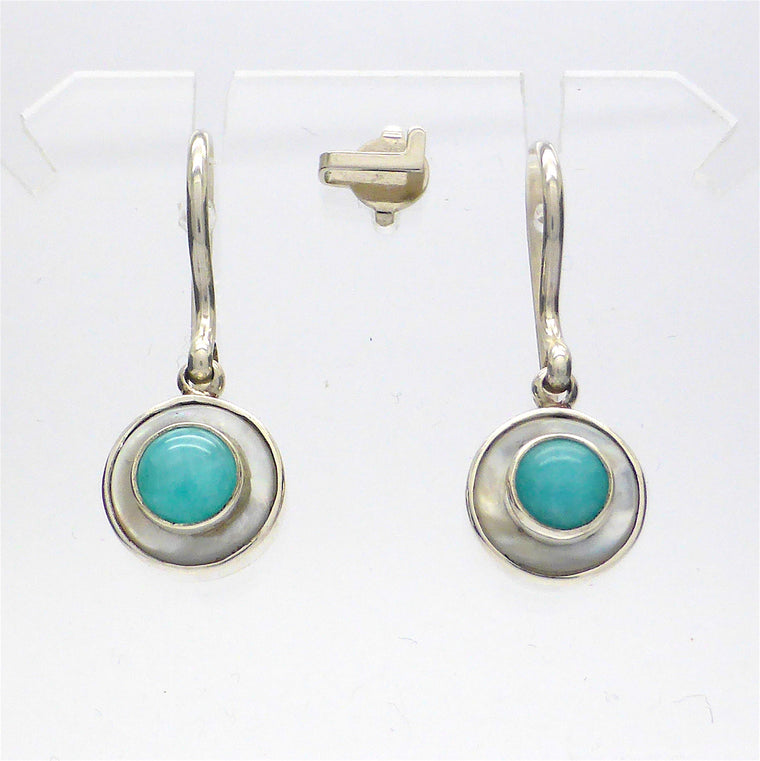 Earring Amazonite & Mother of Pearl KT4
