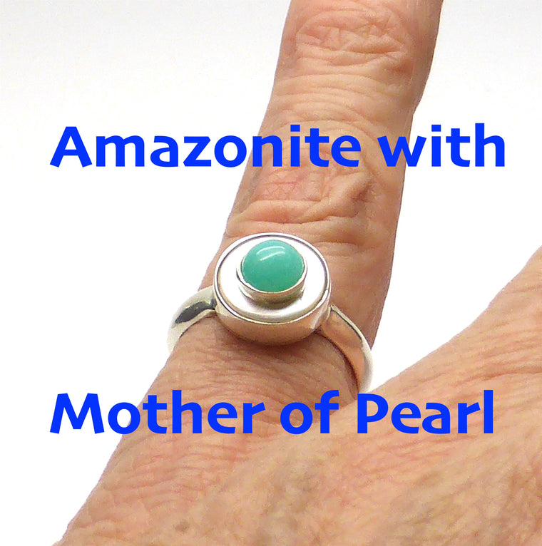 Ring Amazonite & Mother of Pearl KT1