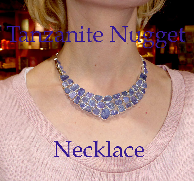 Necklace Tanzanite Nuggets