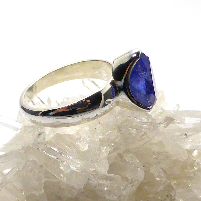 Tanzanite Ring Teardrop | 925 sterling Silver | Size 10 | Spiritual Superlative | Authentic stone from Tanzania | Mt Kilimanjaro | Crystal Heart Melbourne Australia since 1986