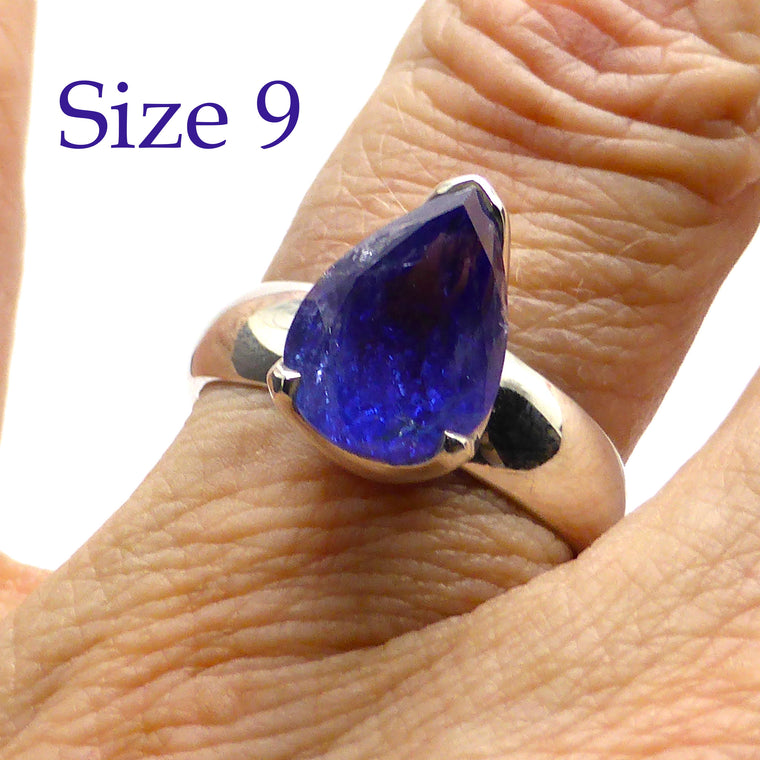 Tanzanite Ring | Faceted Teardrop | 925 Silver g15