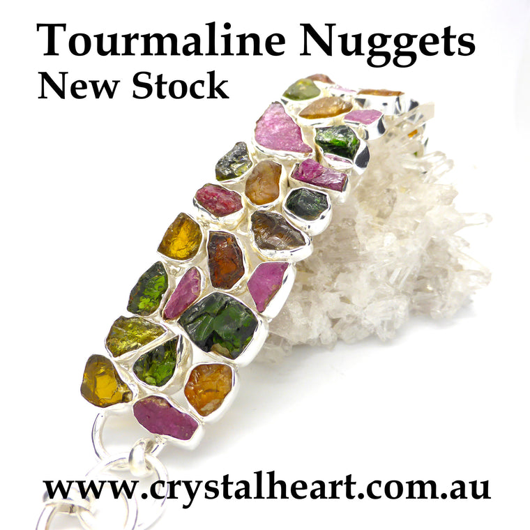 Tourmaline Bracelet, raw nuggets  SR2