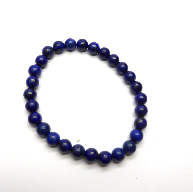 Lapis Lazuli Bracelet, 6 mm beads, Stretch