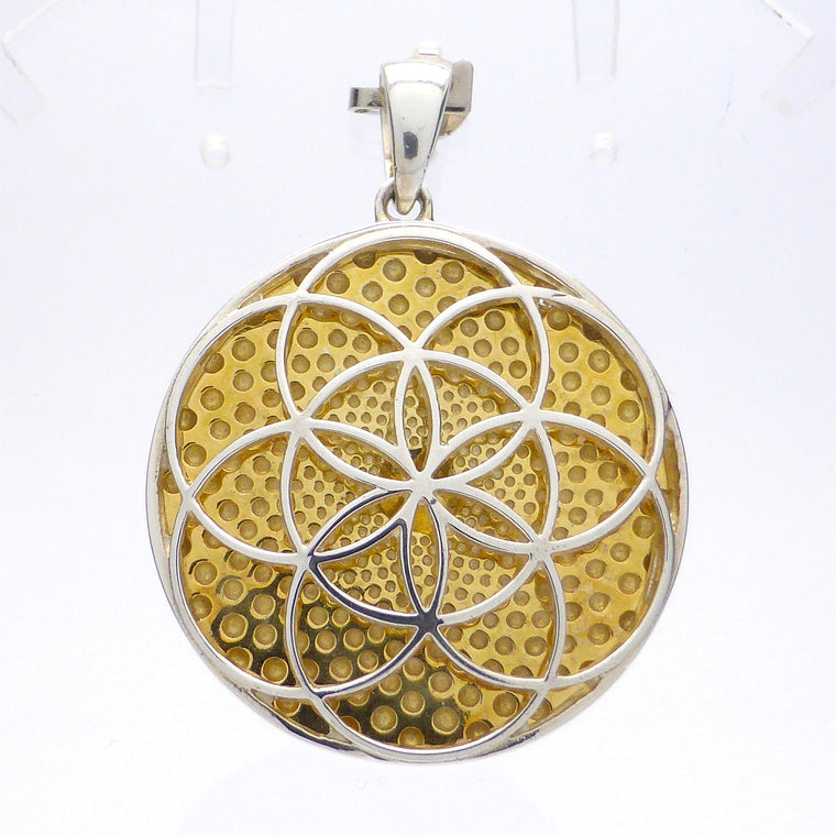 Pendant Seed of life Crop circle | Silver & Gold p1