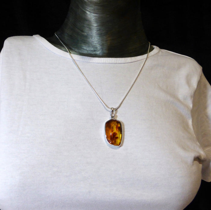 Baltic Amber Pendant | 925 Sterling Silver | Natural Stone | Crystal Heart Melbourne Australia since 1986