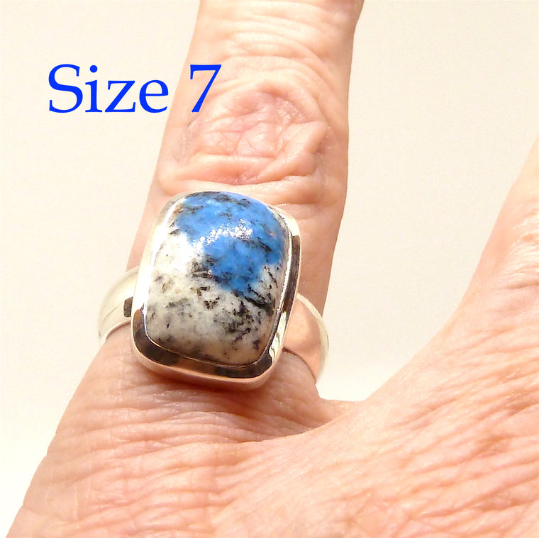 Azurite K2 Ring, 925 Silver, ag1