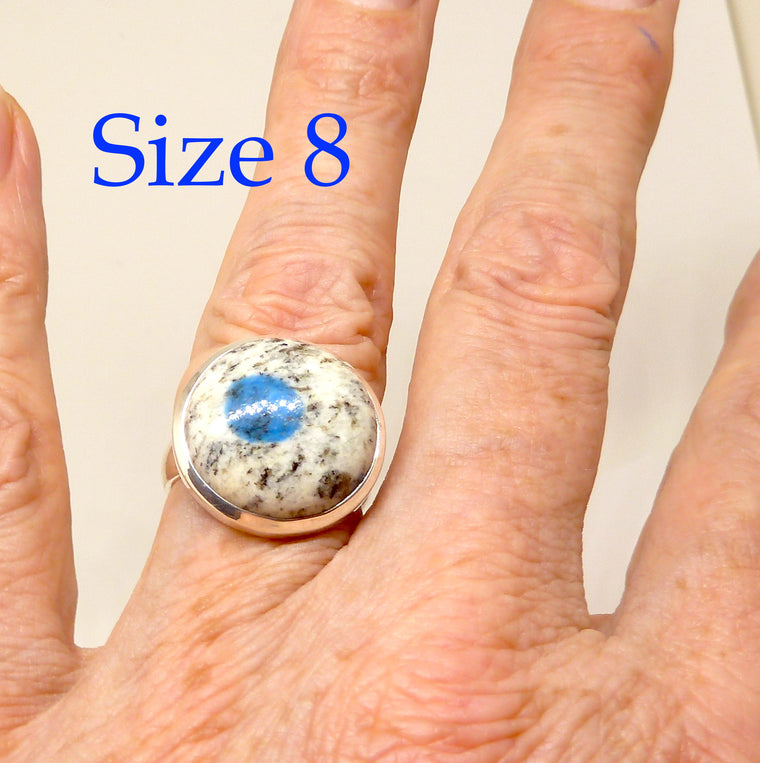 Azurite K2 Ring, 925 Silver,  g2