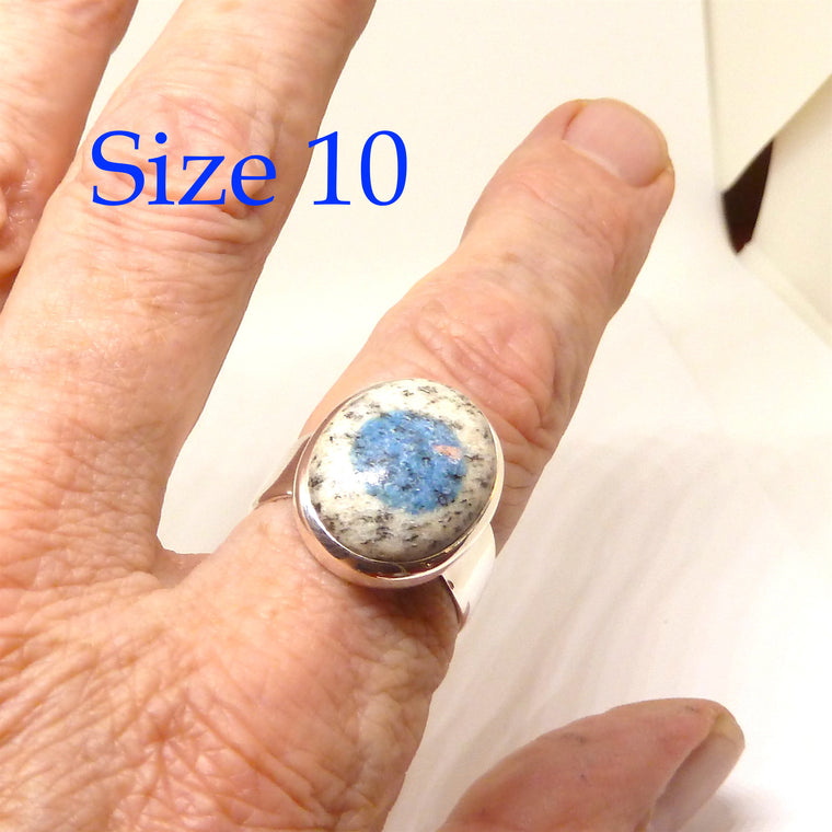 Azurite K2 Ring, 925 Silver,  AG3