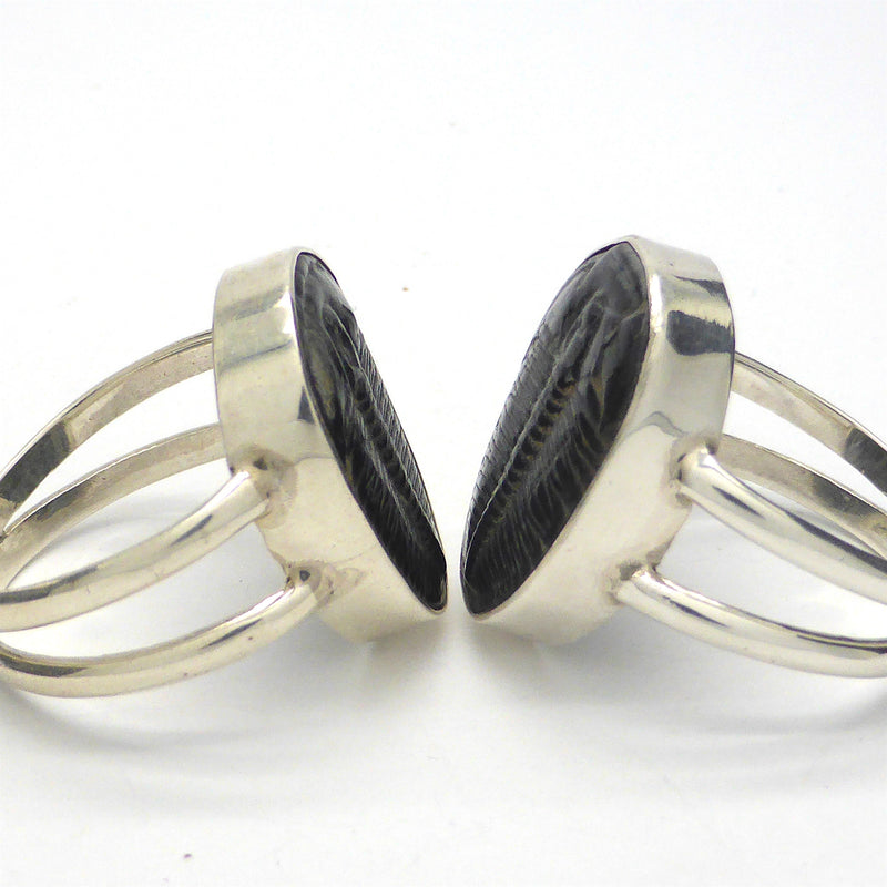 Trilobite Fossil Ring | 925 Sterling Silver  Nice details on these genuine Fossils | Large sizes US 10 or 11 | Crystal Heart Melbourne Australia since 1986