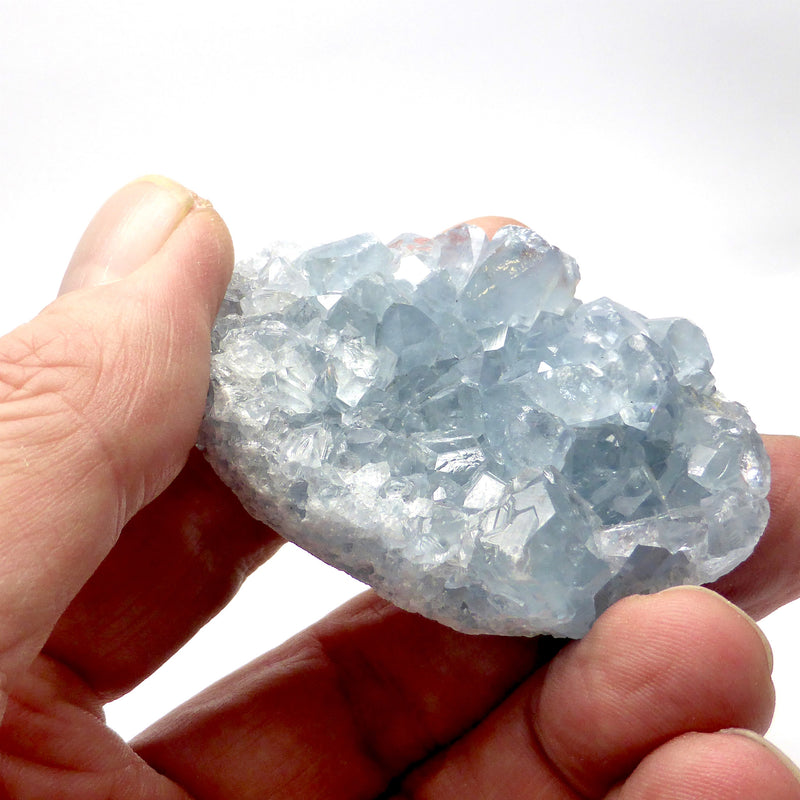 Celestite Cluster | Madagascar | Nice colour & crystal formation | Gemini | relax Clarify Mind | Crystal Heart Melbourne Australia since 1986