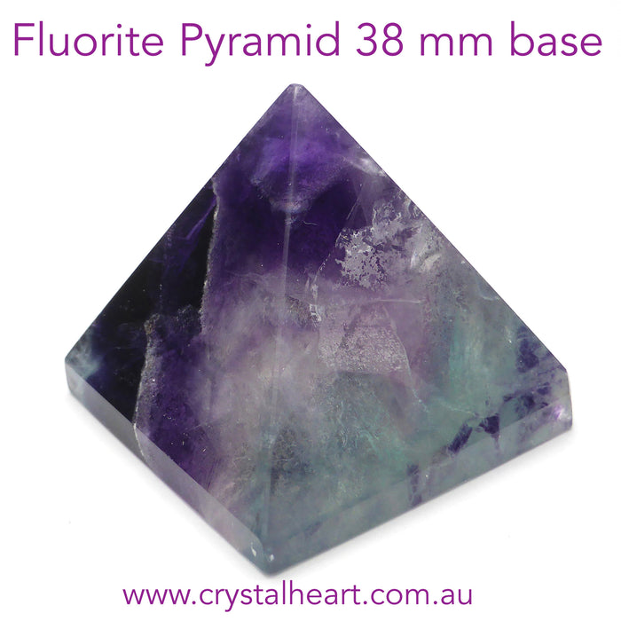 Fluorite Natural Crystal Pyramid | Purple and Green | Study | Intelligence | Crystal Heart Melbourne since 1986