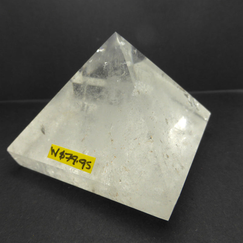 Clear Quartz Natural Crystal Pyramid | 65 mm base | White Light | Creative Grounding | Crystal Heart Melbourne since 1986