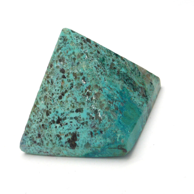 Chrysocolla Natural Crystal Pyramid | 38 mm base | Deep Transformation | Crystal Heart Melbourne since 1986