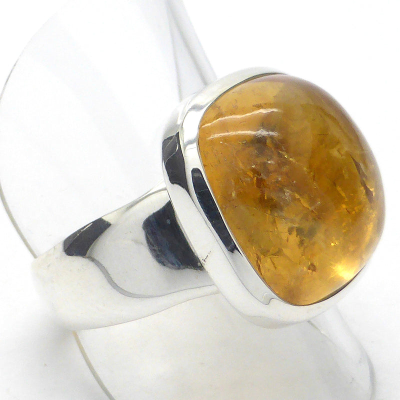 Citrine Ring Soft Square Cabochon | 925 Sterling Silver | US Size 9 | Lovely  Mellow Energy | Leo | Prosperity | Positivity  | Crystal Heart Melbourne Australia since 1986
