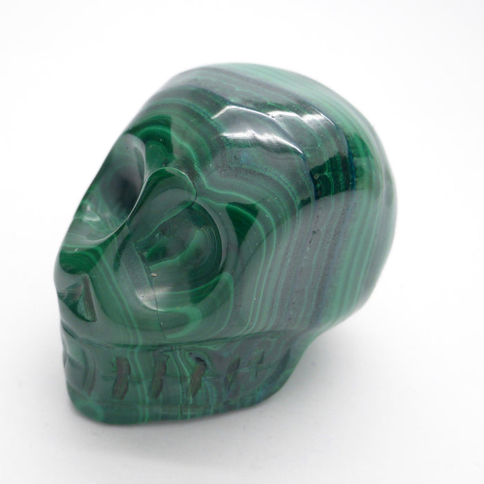 Skull | Malachite | Mined & Carved in Congo | Detox Empower the Feminine | deeper spiritual meanings | Crystal Heart Melbourne Australia since 1986
