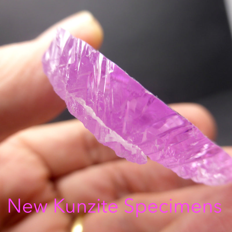 Kunzite Natural Crystal | Gem Quality | Excellent Clarity & Color | Natural terminations | Wisdom of the Heart | Taurus Scorpio Leo | Crystal heart Melbourne Australia since 1986