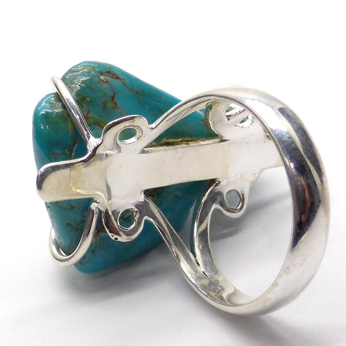 Turquoise Ring | Arizona Nugget | 925 Sterling Silver | Robin's Egg Blue | Sagittarius Scorpio Pisces | Crystal Heart Melbourne since 1986