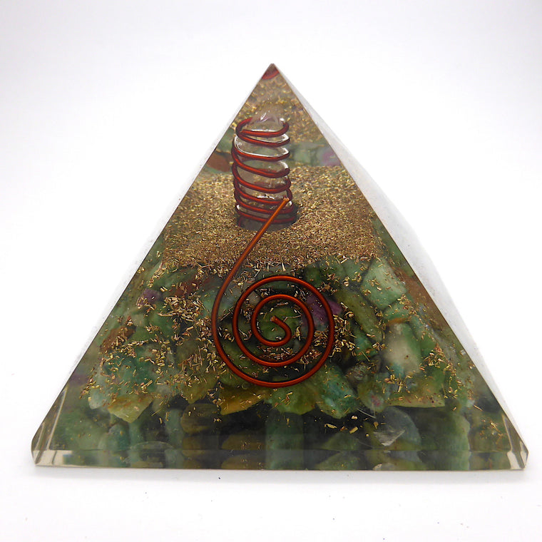AK Orgone Pyramid with Ruby Fuschite