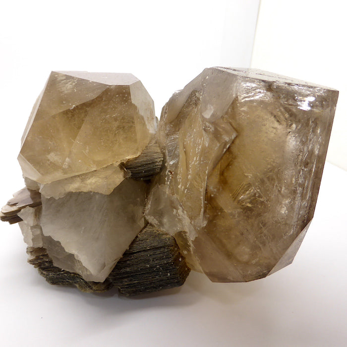 Awesome Large Cluster - Smoky, Elestial, Mica, Black Tourmaline | Empower Manifest Evolution Imagination Abundance | Crystal Heart Australian Spiritual Megastore since 1986