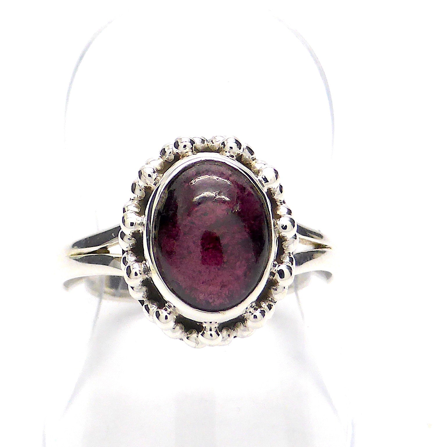 Garnet Ring | Oval Cabochon | Detailed 925 Sterling Silver | Smaller ring | Size 5,6,7,8,9,10 | Crystal Heart Melbourne Australia since 1986
