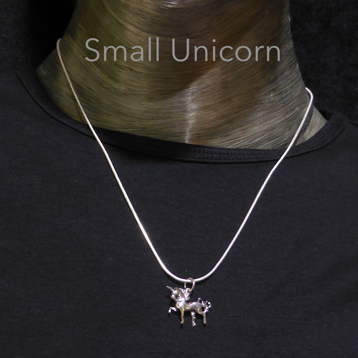 Beautiful Lifelike Unicorn Pendant | 925 Silver | Magical Beasts | Third Eye | Crystal Heart Melbourne Australia since 1986