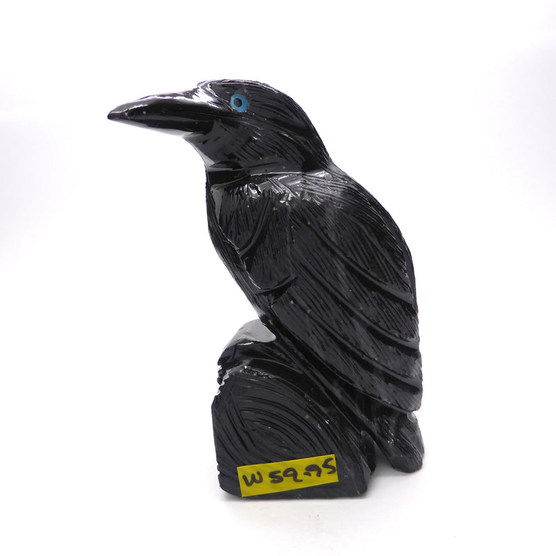 Raven Black Onyx Carving
