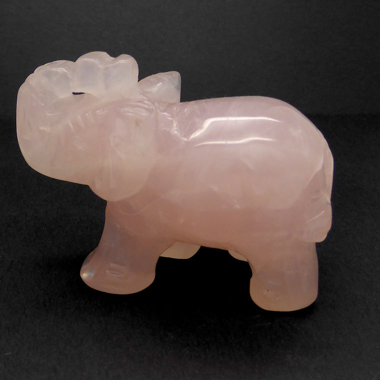 Elephant Carving Rose Quartz